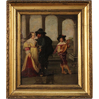 19th Century French Gallant Scene Painting