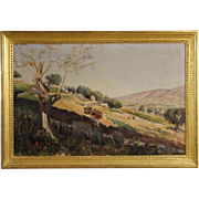 Italian Landscape Painting Dated 1899
