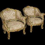 20th Century Pair Of Venetian Armchairs