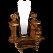 20th Century Italian Cheval Mirror In Walnut