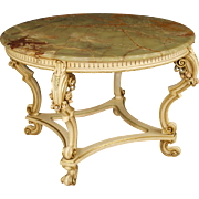 20th Century Italian Lacquered And Gilt Table