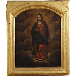 19th Century French Religious Painting Madonna