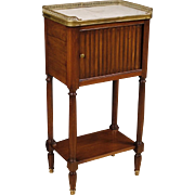 20th Century French Night Stand With Marble Top