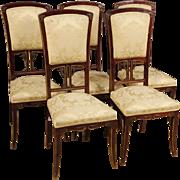 20th Century Spanish Chairs In Mahogany