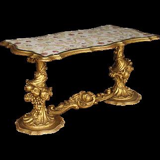 20th Century Italian Coffee Table In Golden Wood