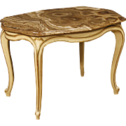 20th Century Italian Lacquered Coffee Table With Marble Top