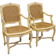 20th Century Pair Of French Lacquered Armchairs