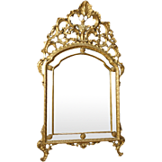 20th Century Italian Golden Mirror