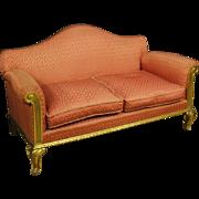 20th Century Spanish Golden Sofa