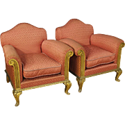 20th Century Pair Of Spanish Golden Armchairs