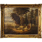 19th Century French Signed Painting Oil On Canvas
