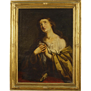 19th Century French Religious Oil Painting