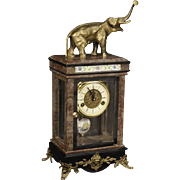 20th Century Dutch Clock In Marble And Metal