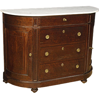19th Century French Demi Luce Dresser With Marble Top