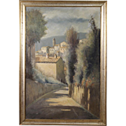 20th Century Italian Landscape Painting Oil On Canvas