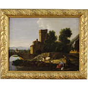 Italian Landscape Painting Oil On Canvas