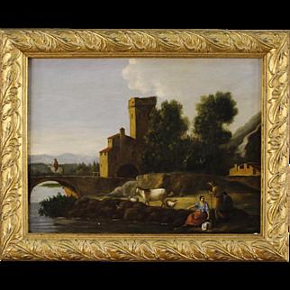 Italian Landscape Painting Oil On Canvas
