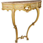20th Century Italian Lacquered, Gilt, Painted Console