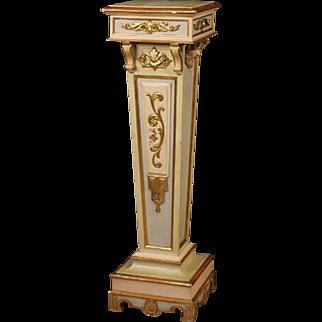 20th Century Italian Lacquered Column