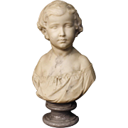 19th Century French Marble Bust Sculpture
