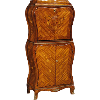 20th Century French Inlaid Secrétaire