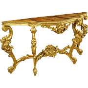 20th Century Louis XIV Style Golden Console