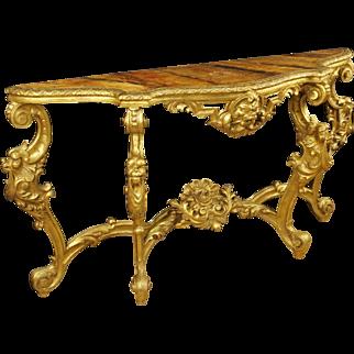 20th Century Louis XIV Style Golden Console