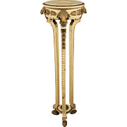 20th Century French Lacquered And Gilt Tripod Table In Louis XVI Style