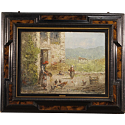 20th Century Italian Landscape Painting Signed By G. Marcon