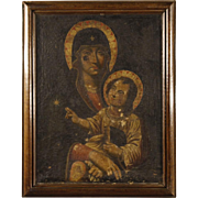 18th Century French Oil Painting Madonna With Child
