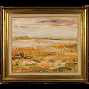 20th Century Dutch Impressionist Landscape Painting