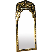 20th Century Lacquered, Gilt And Painted Mirror