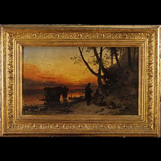 19th Century Flemish Landscape Painting