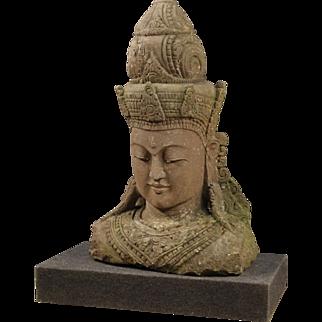 20th Century Cambodian Stone Sculpture