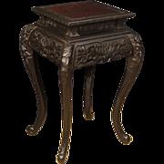 20th Century Oriental Living Room Side Table In Ebonized Wood