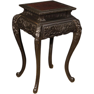 20th Century Oriental Living Room Side Table In Ebonized Wood
