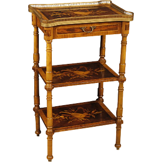 20th Century Italian Side Table With Floral Inlay