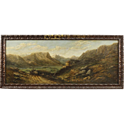 20th Century French Signed Landscape Painting
