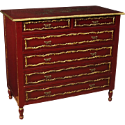 20th Century Spanish Lacquered And Gilt Chest Of Drawers