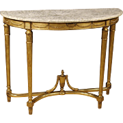20th Century French Gilt Console Table In Louis XVI Style
