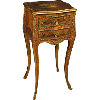 20th Century French Lacquered Night Stand