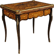 20th Century French Inlaid Game Table