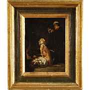 19th Century French Signed Oil Painting
