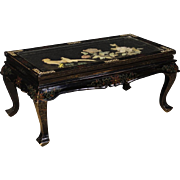 20th Century French Coffee Table In Lacquered And Painted Chinoiserie Wood