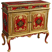 20th Century Florentine Lacquered Sideboard With 2 Doors