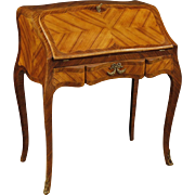 20th Century French Bureau Desk In Rosewood, Palisander, Maple With Gilt Bronzes