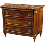 20th Century French Commode In Mahogany In Louis XVI Style