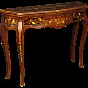 20th Century Italian Inlaid Console Table