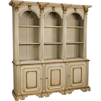 20th Century Italian Bookcase In Lacquered Wood