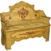 20th Century Venetian Lacquered Bench